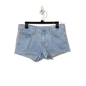 RAG & BONE Light Wash Cutoff Denim Shorts